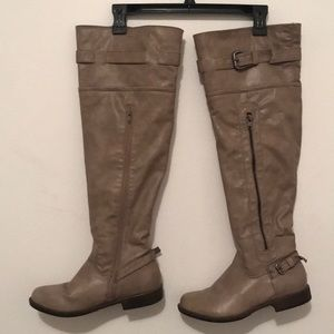 Just Fab taupe over the knee boots